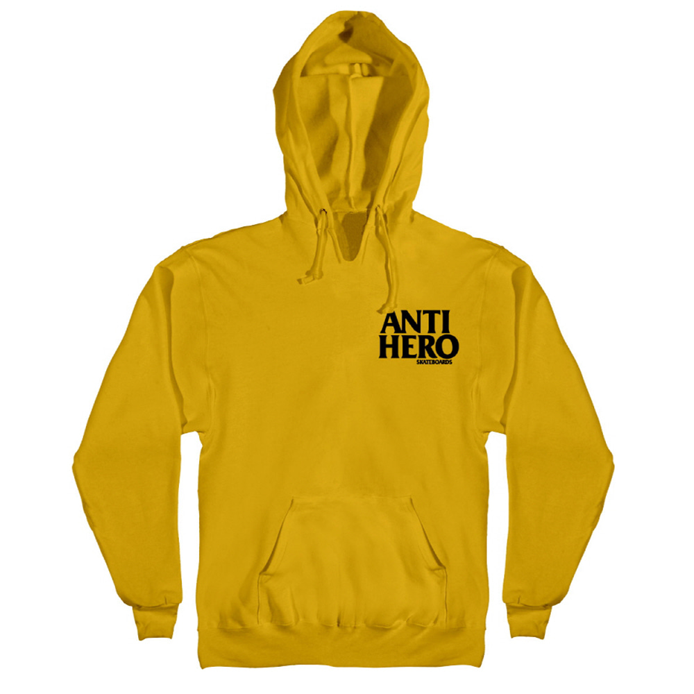 [Anti Hero] LIL BLACKHERO EMB Pullover Hood - GOLD / BLACK Emb 53120041G