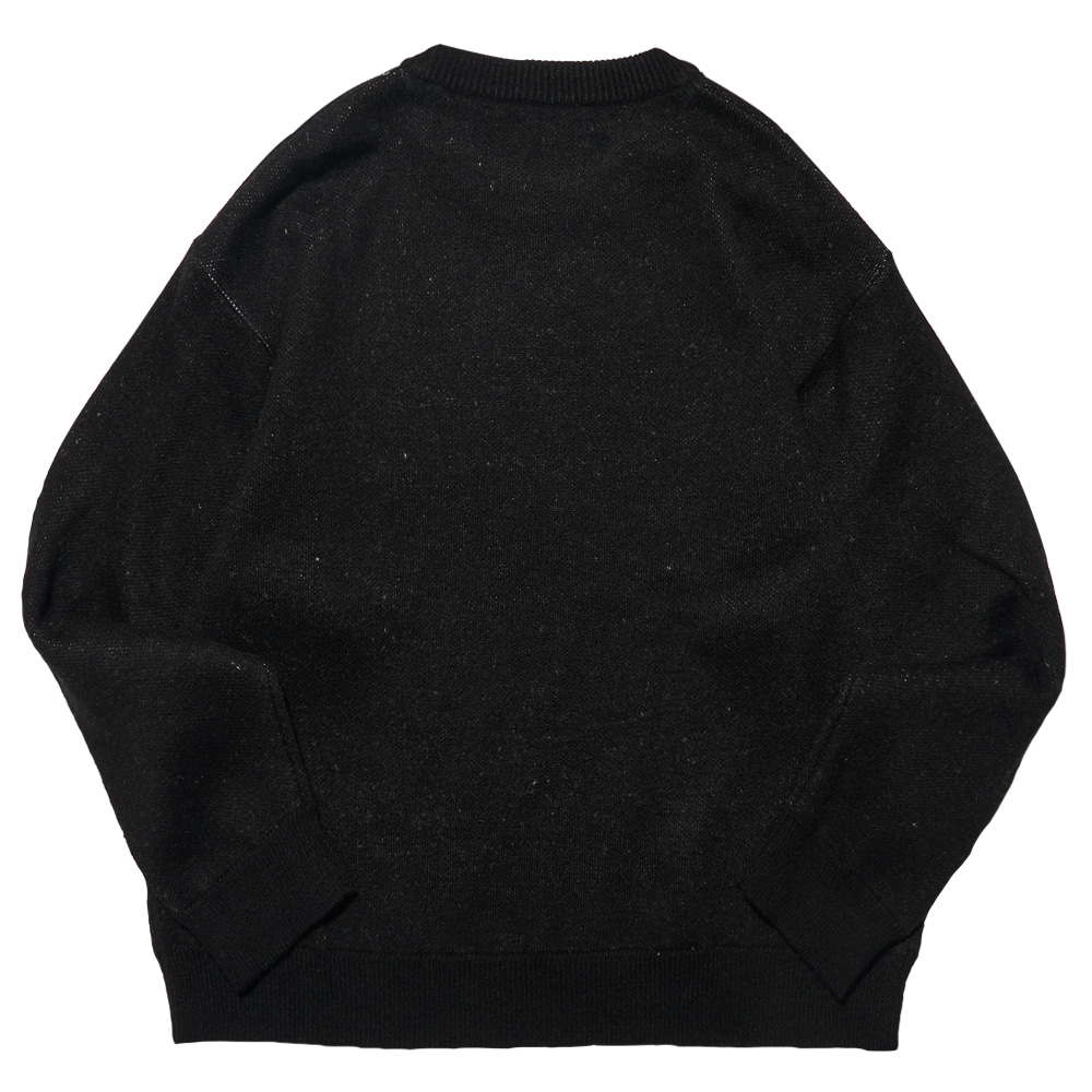 [필이너프] LOGO KNIT / BLACK