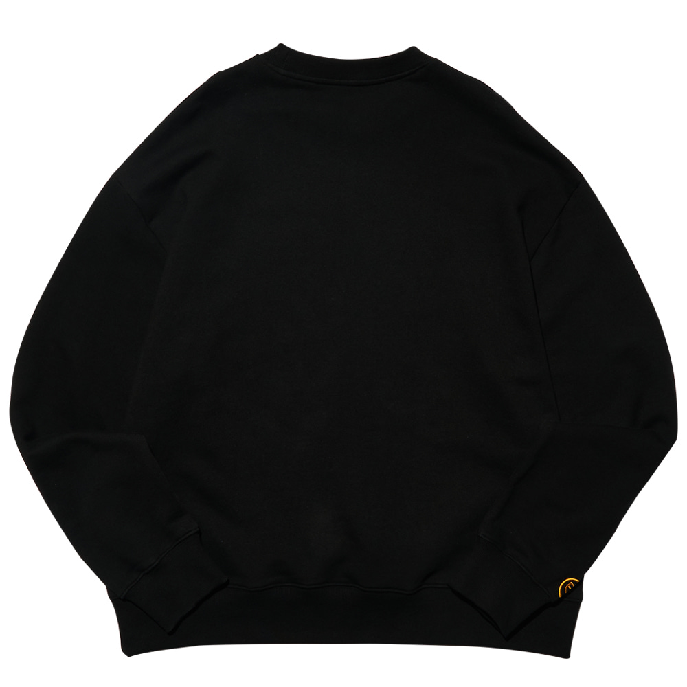 [필이너프] DAISY CAT CREWNECK / BLACK