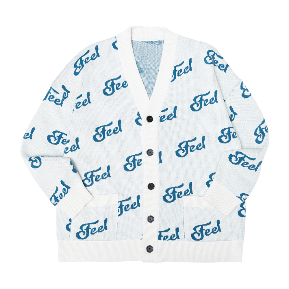 [필이너프] FEEL LOGO CARDIGAN / IVORY