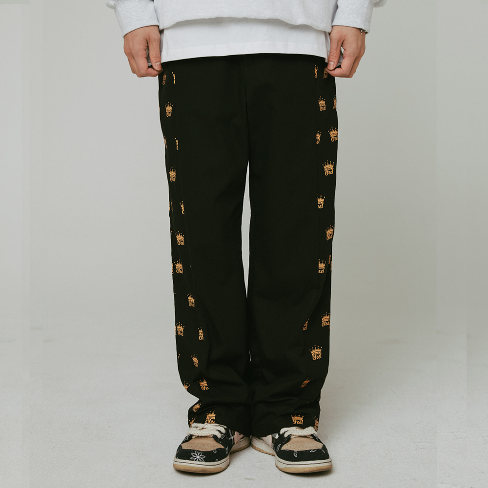 [필이너프] Crown Work Pants / BLACK