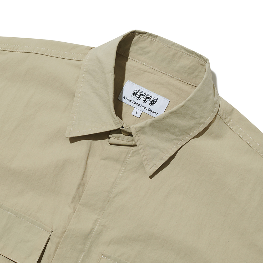 [엔에프에프오] multi cargo jacket beige