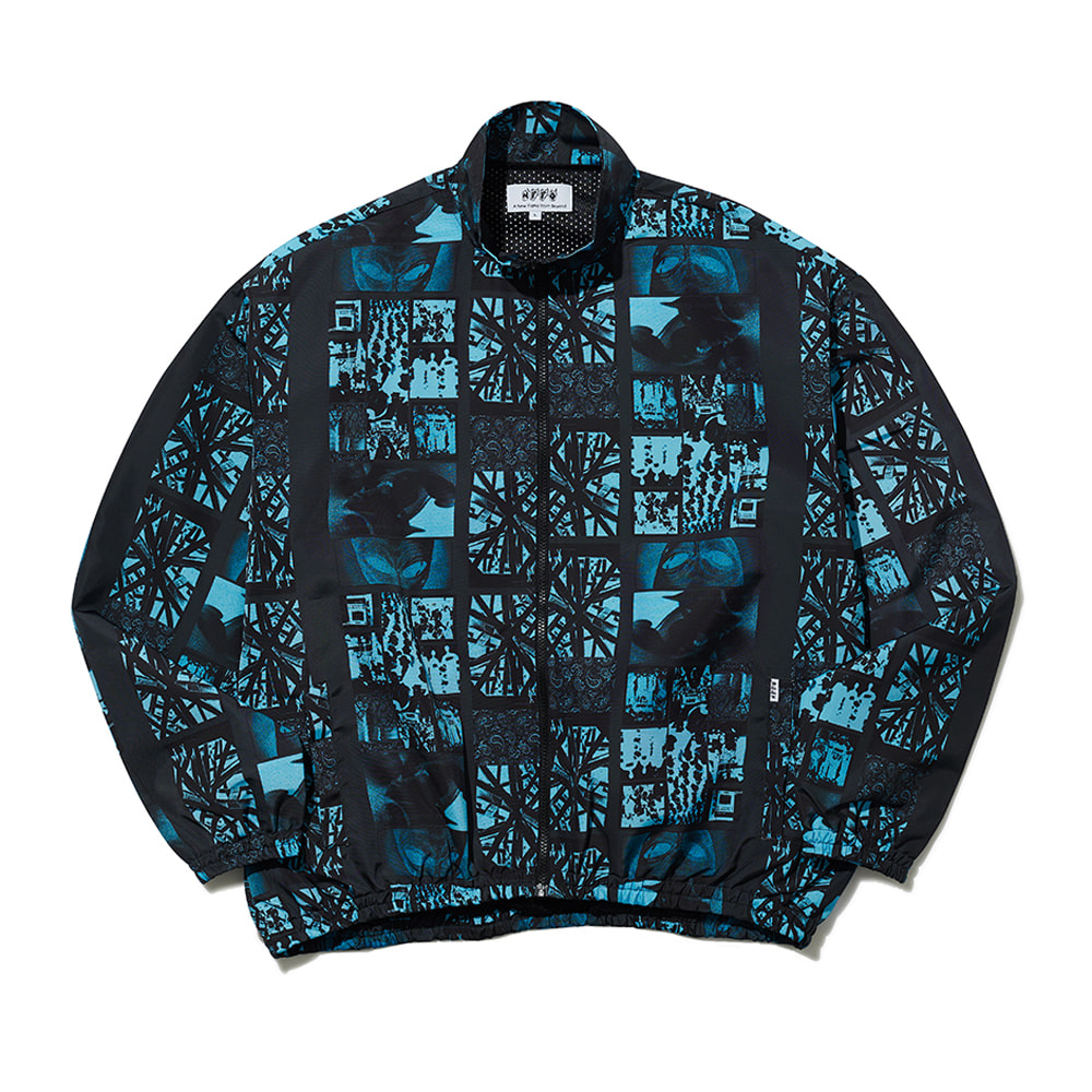 [엔에프에프오] CHAOS PRINT JACKET BLUE