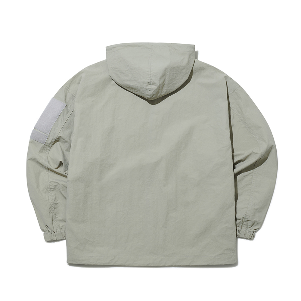 [엔에프에프오] velcro hooded jacket beige