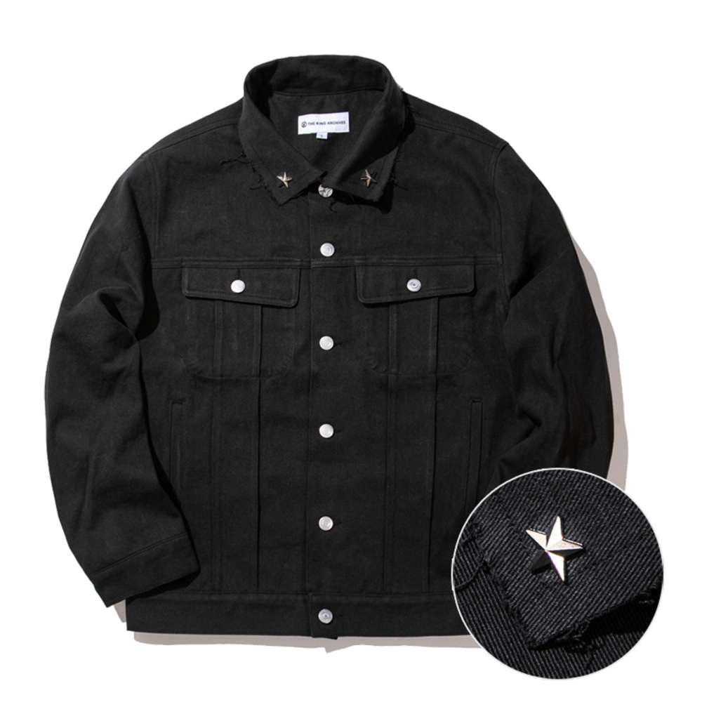 [킹아카이브]Trucker Jacket -Black