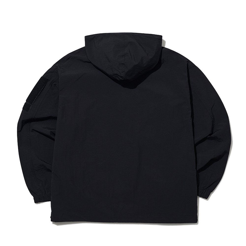 [엔에프에프오] velcro hooded jacket black