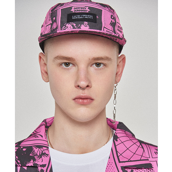 Printed Camp Hat - DUST PINK