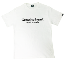 [Genuine Heart]Basic Logo Tee - White