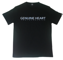 [Genuine Heart]Double Logo Tee - Black