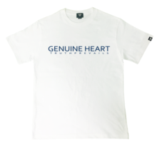 [Genuine Heart]Double Logo Tee - White