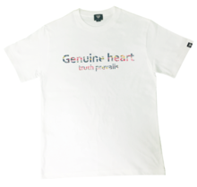 [Genuine Heart]Flower Camo Logo Tee - White