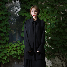 [YORKMINSTER] Auspicious Long Shirt-003 - Black