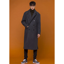 [OURHISTORY]Double Long Coat - Charcoal