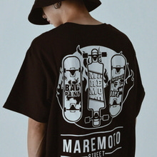 [Maremoto]skateboard tee black