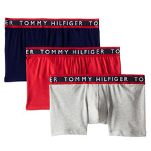 [Tommy Hilfiger] Cotton Stretch Boxer Brief 3pack - Navy/Red/Grey