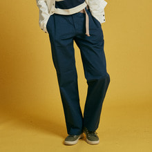 [INTAR]Cotton Wide Pants - Navy