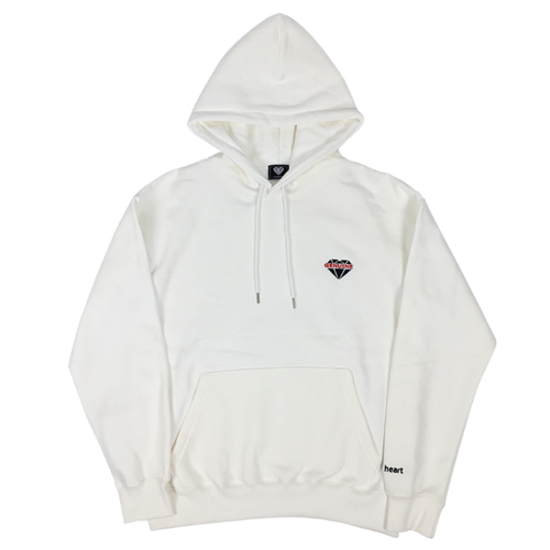 [제뉴인하트] GENUINE logo Hood T-shirt - White