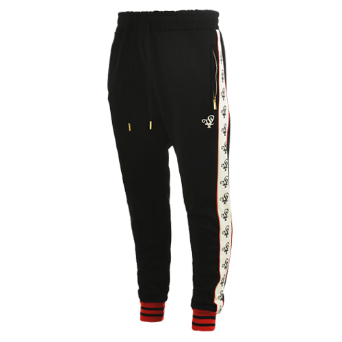 [LOLO ATLANTA] BLACK TRACK PANTS (Black/Cream)