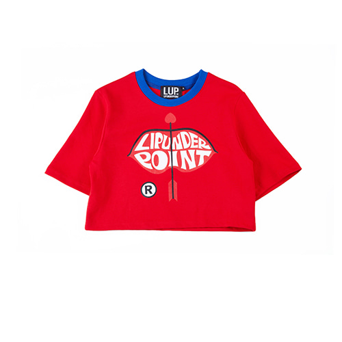 [LIPUNDERPOINT]  LIP LOGO ARROW CROP_RED