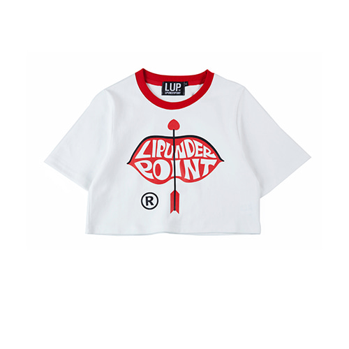 [LIPUNDERPOINT]  LIP LOGO ARROW CROP_WHITE