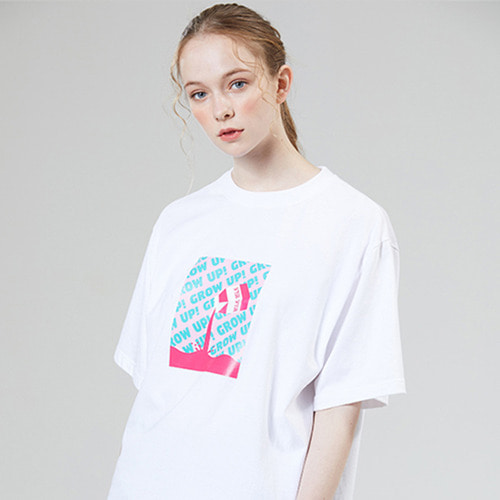 [MOTIVESTREET]GROWUP MILK TEE WHITE