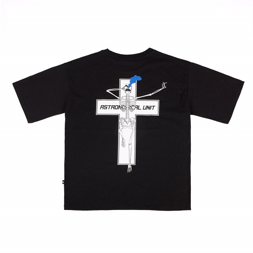 [10%할인][0.387AU] Skeleton-Cross Black T-shirt