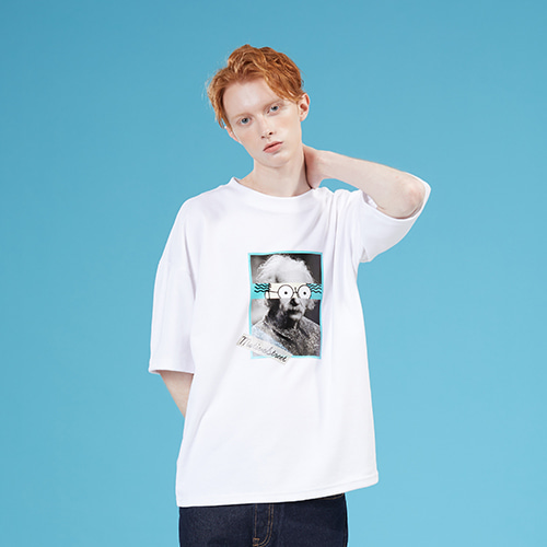 [MOTIVESTREET]TEAR EINSTEIN TEE WHITE