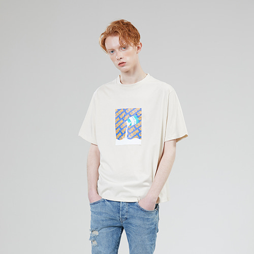 [MOTIVESTREET]GROWUP MILK TEE BEIGE