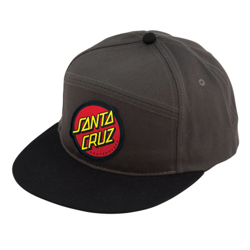 [SANTA CRUZ] DOT  ADJUSTABLE SNAPBACK  - CHARCOAL/ BLACK