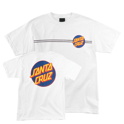 [SANTA CRUZ] Other Dot Tee - White/Navy