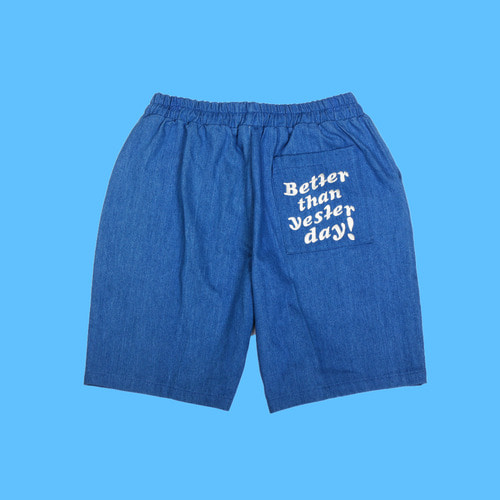 [DUCKDIVE] DENIM SHORT PANTS_BLUE