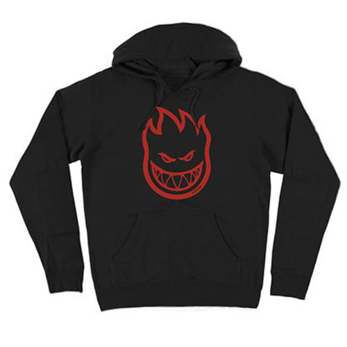 [Spitfire] BIGHEAD PULLOVER HOODED SWEAT SHIRT - BLACK/RED