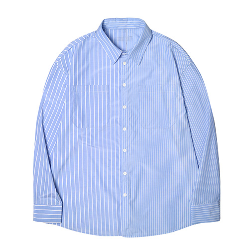 [DEADEND] HALF STRIPE QUOTE SHIRTS
