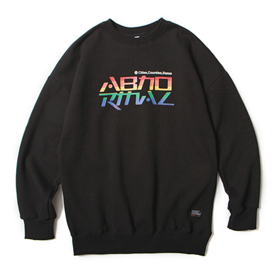 [앱놀머씽] 18 Rainbow Crewneck (Black)