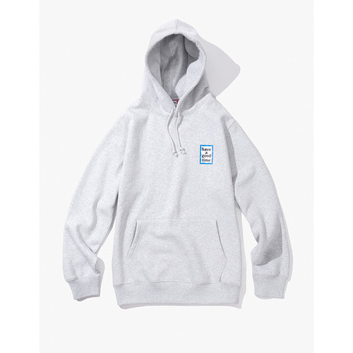 [해브어굿타임] MINI BLUE FRAME PULLOVER HOODIE - HEATHER GREY