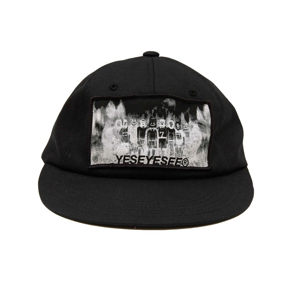 [yeseyesee] NIGHTMARE PATCHED CAP BLACK
