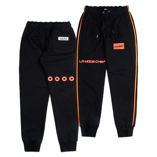 [LAMODECHIEF] LAMC FULL LOGO TRAINING JOGGER PANTS (BLACK)