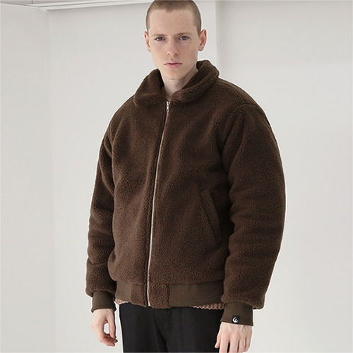 [TENBLADE] Warm wool jacket_Brown