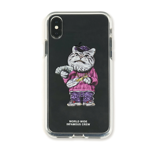 [STIGMA]PHONE CASE CATSGANG CLEAR iPHONE Xs / Xs MAX / Xr