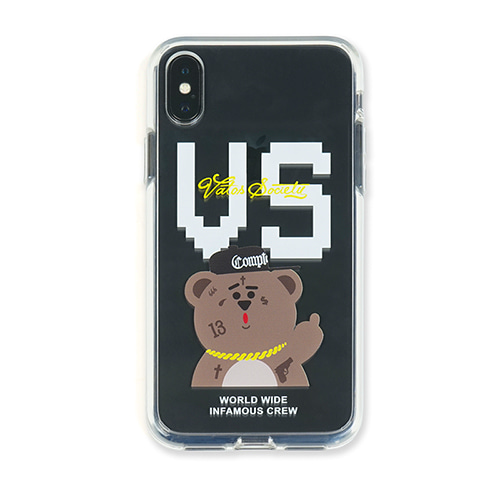 [STIGMA]PHONE CASE VS BEAR CLEAR iPHONE Xs / Xs MAX / Xr