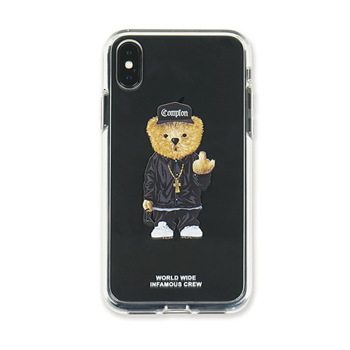 [STIGMA]PHONE CASE COMPTON BEAR CLEAR iPHONE Xs / Xs MAX / Xr