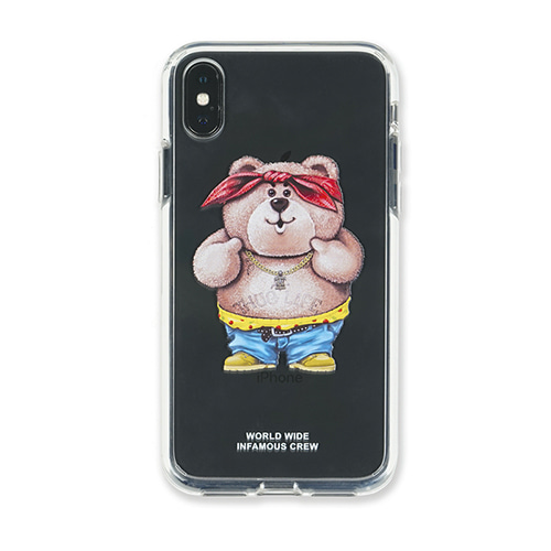 [STIGMA]PHONE CASE THUG BEAR CLEAR iPHONE Xs / Xs MAX / Xr