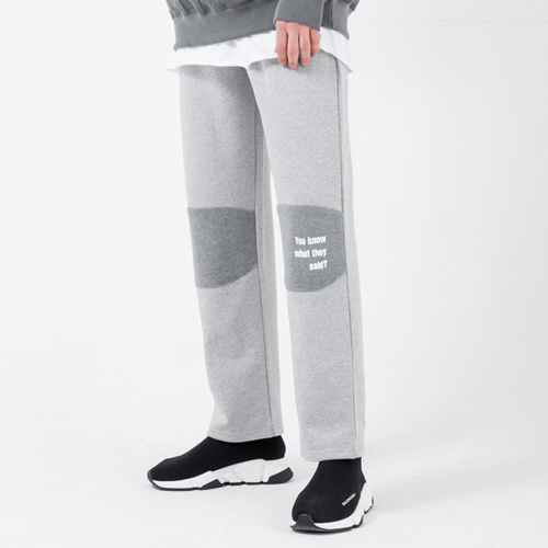 [LAMODECHIEF] LAMC KNEE PATCH TRAINING PANTS (GRAY)