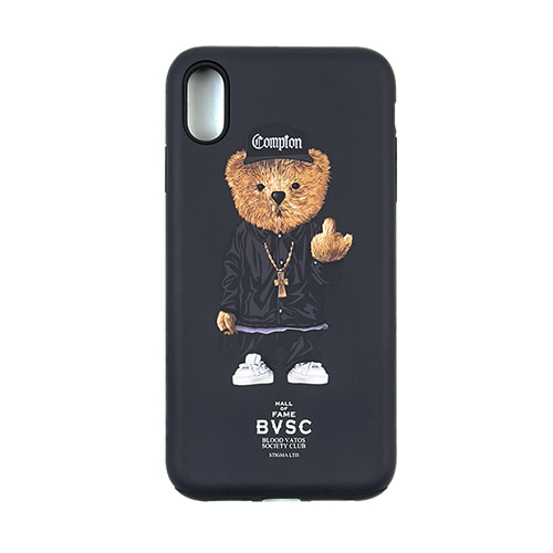 [STIGMA]PHONE CASE COMPTON BEAR BLACK iPHONE Xs / Xs MAX / Xr