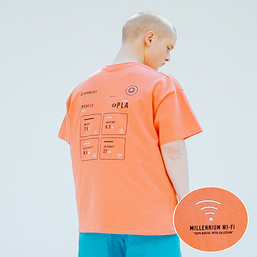 [APPARELXIT] UNISEX MILLENNIUM WIFI TSHIRTS ORANGE