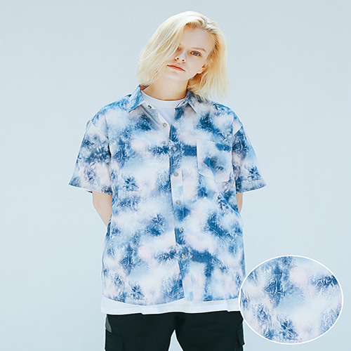 [APPARELXIT] UNISEX AF WATER WASHING SHIRTS NAVY