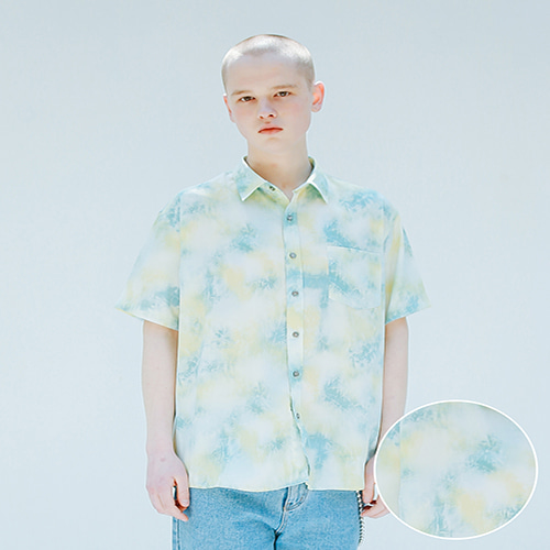 [APPARELXIT] UNISEX AF WATER WASHING SHIRTS SKY BLUE