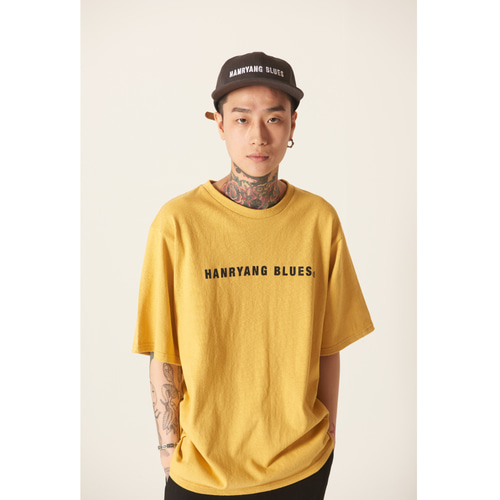 [TLEYOUNG] 19ss 베이직 로고 하프 티 (Yellow)