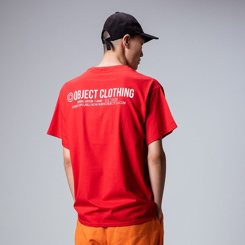 [OBJECT] THINGS T-SHIRT - RED