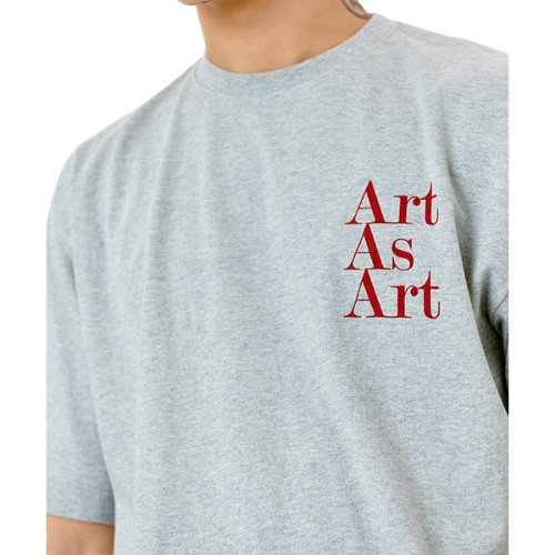 ART AS ART T-SHIRTS - GREY/RED
